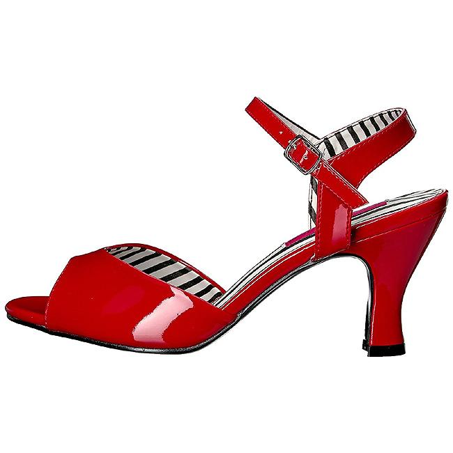 JENNA-09 sandales grande taille femme rouge 44 - 45
